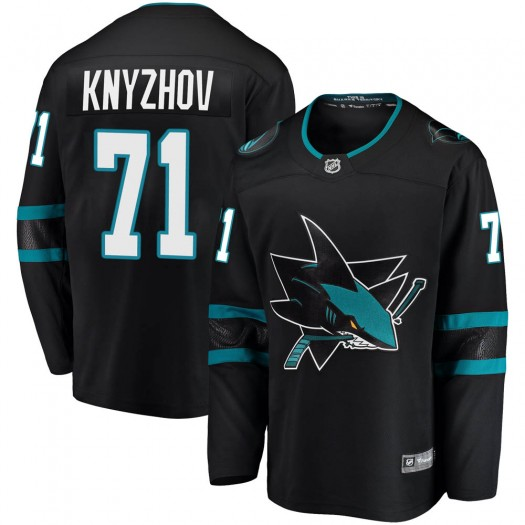 Nikolai Knyzhov San Jose Sharks Men's Fanatics Branded Black ized Breakaway Alternate Jersey