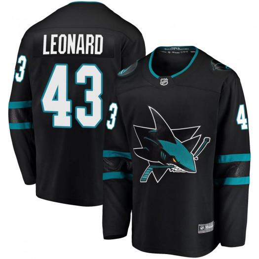 John Leonard San Jose Sharks Men's Fanatics Branded Black Breakaway Alternate Jersey