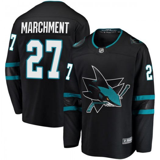Bryan Marchment San Jose Sharks Men's Fanatics Branded Black Breakaway Alternate Jersey