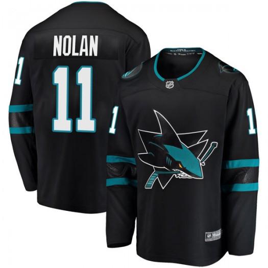 Owen Nolan San Jose Sharks Men's Fanatics Branded Black Breakaway Alternate Jersey