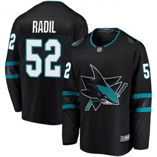 Lukas Radil San Jose Sharks Men's Fanatics Branded Black Breakaway Alternate Jersey