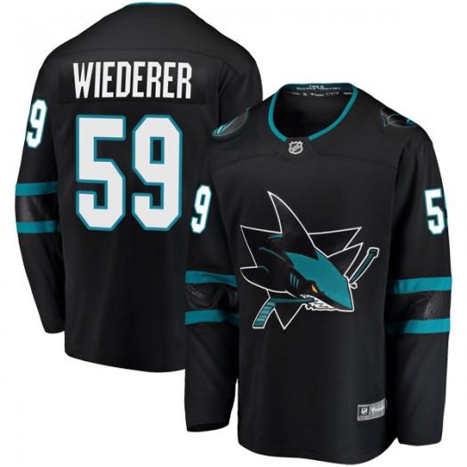 Manuel Wiederer San Jose Sharks Men's Fanatics Branded Black Breakaway Alternate Jersey