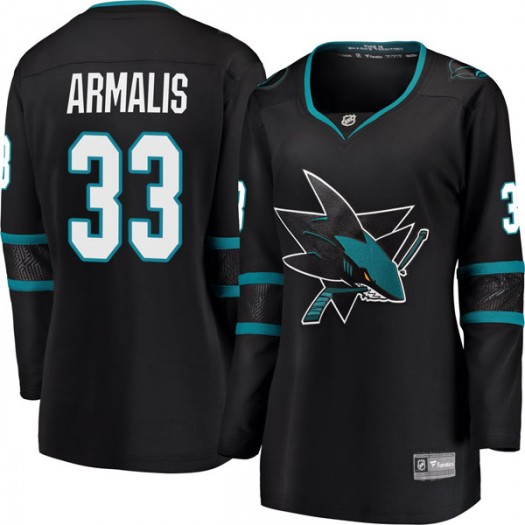 Mantas Armalis San Jose Sharks Women's Fanatics Branded Black Breakaway Alternate Jersey
