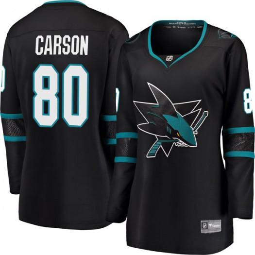 Macauley Carson San Jose Sharks Women's Fanatics Branded Black Breakaway Alternate Jersey
