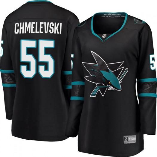 Alexander Chmelevski San Jose Sharks Women's Fanatics Branded Black Breakaway Alternate Jersey