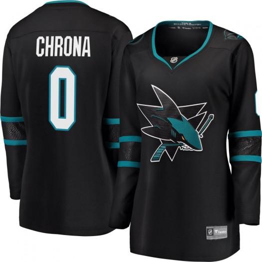 Magnus Chrona San Jose Sharks Women's Fanatics Branded Black Breakaway Alternate Jersey