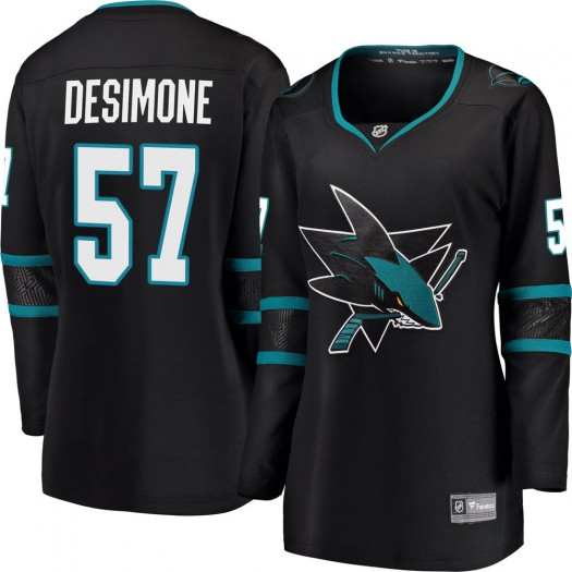 Nick DeSimone San Jose Sharks Women's Fanatics Branded Black Breakaway Alternate Jersey