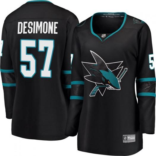 Nick DeSimone San Jose Sharks Women's Fanatics Branded Black ized Breakaway Alternate Jersey