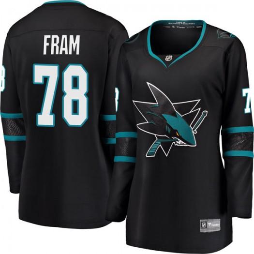 Jason Fram San Jose Sharks Women's Fanatics Branded Black Breakaway Alternate Jersey