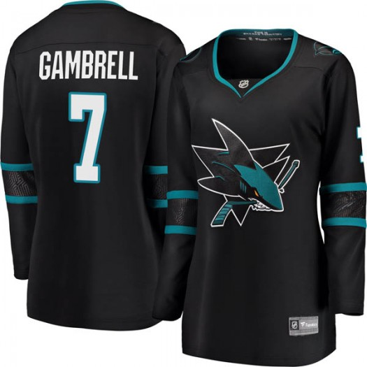 Dylan Gambrell San Jose Sharks Women's Fanatics Branded Black Breakaway Alternate Jersey