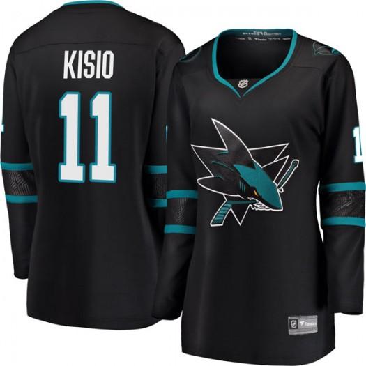 Kelly Kisio San Jose Sharks Women's Fanatics Branded Black Breakaway Alternate Jersey