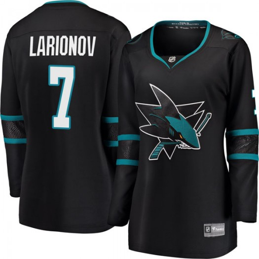 Igor Larionov San Jose Sharks Women's Fanatics Branded Black Breakaway Alternate Jersey