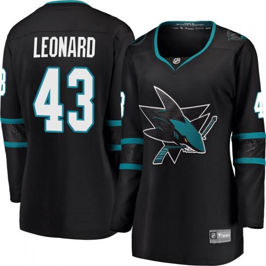 John Leonard San Jose Sharks Women's Fanatics Branded Black Breakaway Alternate Jersey