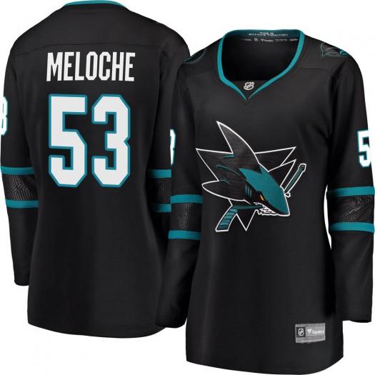 Nicolas Meloche San Jose Sharks Women's Fanatics Branded Black Breakaway Alternate Jersey