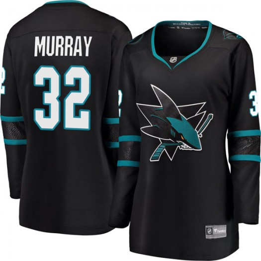 Jamie Murray San Jose Sharks Women's Fanatics Branded Black Breakaway Alternate Jersey
