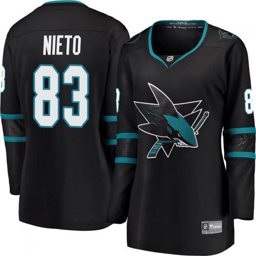 Matt Nieto San Jose Sharks Women's Fanatics Branded Black Breakaway Alternate Jersey