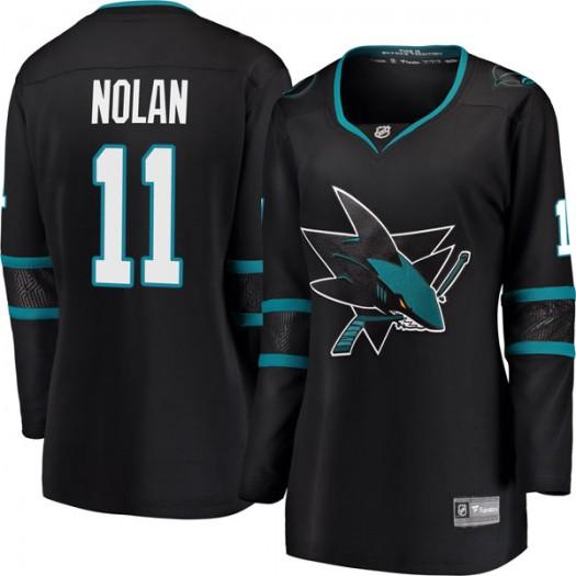 Owen Nolan San Jose Sharks Women's Fanatics Branded Black Breakaway Alternate Jersey