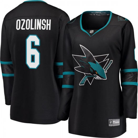Sandis Ozolinsh San Jose Sharks Women's Fanatics Branded Black Breakaway Alternate Jersey