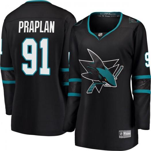 Vincent Praplan San Jose Sharks Women's Fanatics Branded Black Breakaway Alternate Jersey