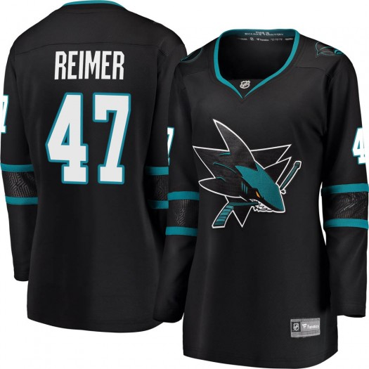 James Reimer San Jose Sharks Women's Fanatics Branded Black Breakaway Alternate Jersey