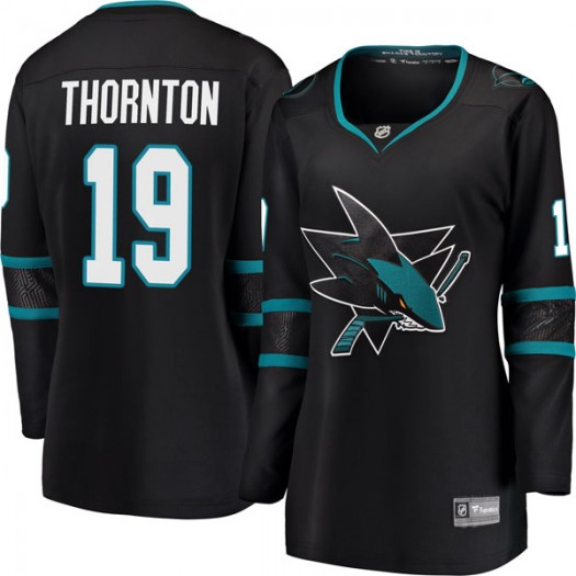 Joe Thornton San Jose Sharks Women's Fanatics Branded Black Breakaway Alternate Jersey