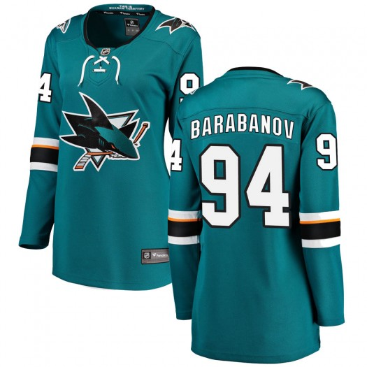 Alexander Barabanov San Jose Sharks Women's Fanatics Branded Teal Breakaway Home Jersey