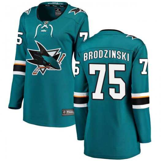 Michael Brodzinski San Jose Sharks Women's Fanatics Branded Teal Breakaway Home Jersey