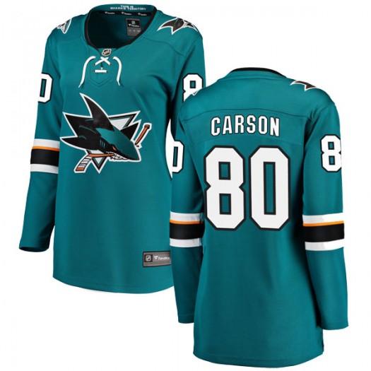 Macauley Carson San Jose Sharks Women's Fanatics Branded Teal Breakaway Home Jersey
