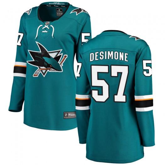 Nick DeSimone San Jose Sharks Women's Fanatics Branded Teal ized Breakaway Home Jersey