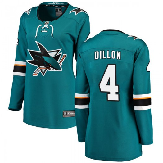 Brenden Dillon San Jose Sharks Women's Fanatics Branded Teal Breakaway Home Jersey