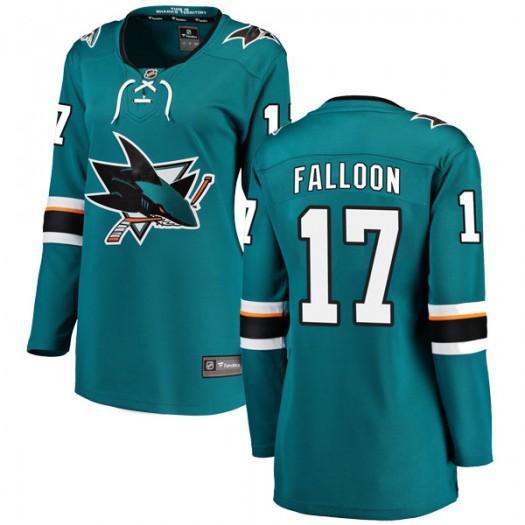 Pat Falloon San Jose Sharks Women's Fanatics Branded Teal Breakaway Home Jersey
