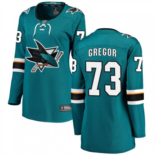 Noah Gregor San Jose Sharks Women's Fanatics Branded Teal Breakaway Home Jersey