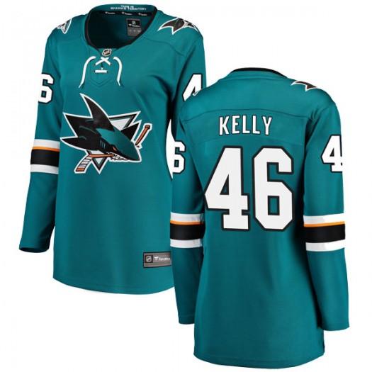 Dan Kelly San Jose Sharks Women's Fanatics Branded Teal Breakaway Home Jersey