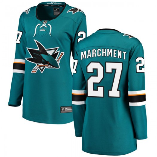 Bryan Marchment San Jose Sharks Women's Fanatics Branded Teal Breakaway Home Jersey