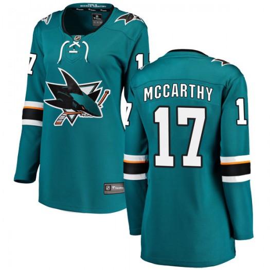 John McCarthy San Jose Sharks Women's Fanatics Branded Teal Breakaway Home Jersey