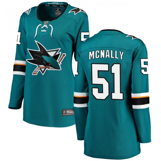 Patrick McNally San Jose Sharks Women's Fanatics Branded Teal Breakaway Home Jersey