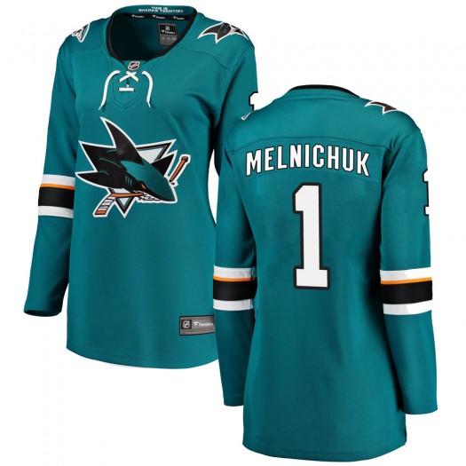 Alexei Melnichuk San Jose Sharks Women's Fanatics Branded Teal Breakaway Home Jersey