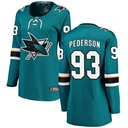 Lane Pederson San Jose Sharks Women's Fanatics Branded Teal Breakaway Home Jersey