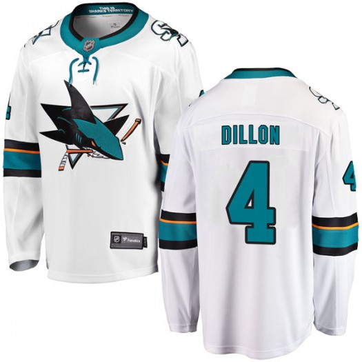 Brenden Dillon San Jose Sharks Youth Fanatics Branded White Breakaway Away Jersey