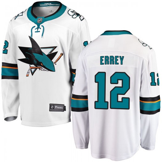 Bob Errey San Jose Sharks Youth Fanatics Branded White Breakaway Away Jersey