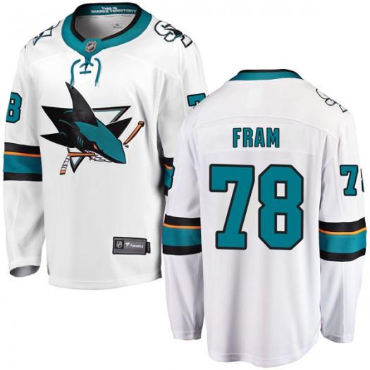 Jason Fram San Jose Sharks Youth Fanatics Branded White Breakaway Away Jersey