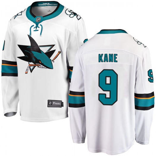 Evander Kane San Jose Sharks Youth Fanatics Branded White Breakaway Away Jersey