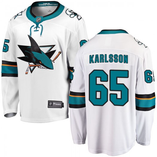 Erik Karlsson San Jose Sharks Youth Fanatics Branded White Breakaway Away Jersey