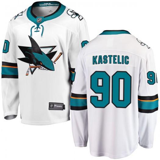 Mark Kastelic San Jose Sharks Youth Fanatics Branded White Breakaway Away Jersey