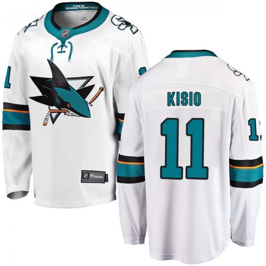Kelly Kisio San Jose Sharks Youth Fanatics Branded White Breakaway Away Jersey