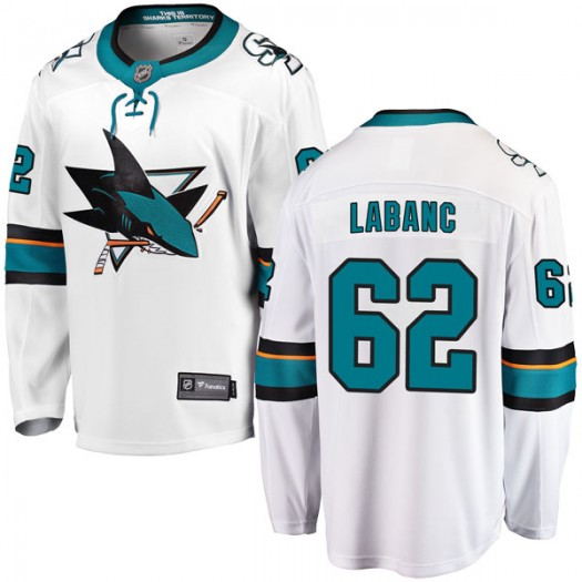 Kevin Labanc San Jose Sharks Youth Fanatics Branded White Breakaway Away Jersey