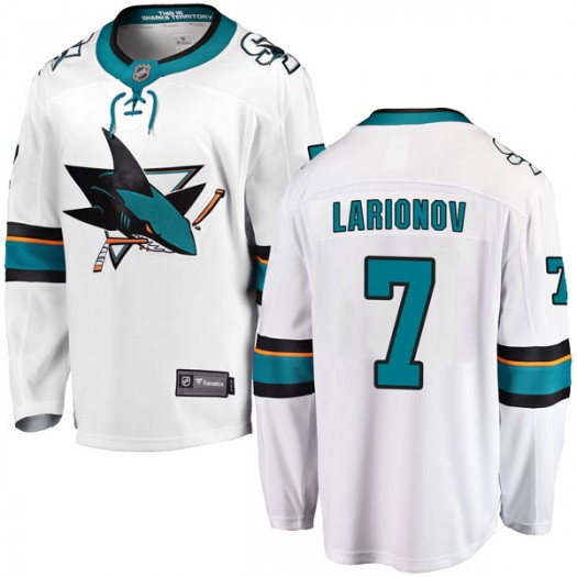 Igor Larionov San Jose Sharks Youth Fanatics Branded White Breakaway Away Jersey
