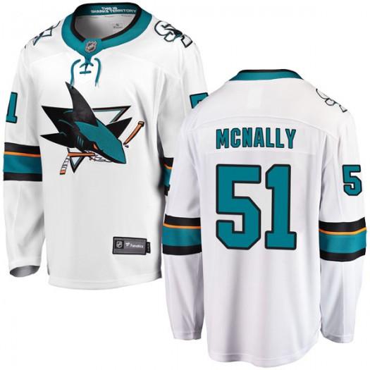 Patrick McNally San Jose Sharks Youth Fanatics Branded White Breakaway Away Jersey