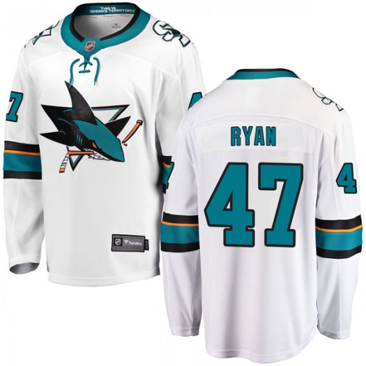 Joakim Ryan San Jose Sharks Youth Fanatics Branded White Breakaway Away Jersey