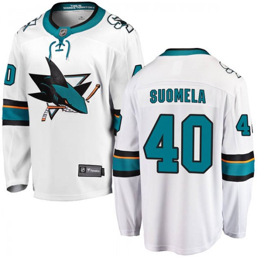 Antti Suomela San Jose Sharks Youth Fanatics Branded White Breakaway Away Jersey